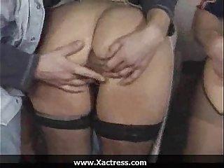 German classic filthy mature woman gangbang