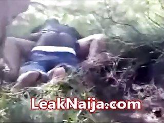 AFRICAN MARRIED WOMAN CAUGHT HAVING SEX WITH OKADA MAN INSIDE BUSH - LEAKNAIJA