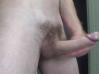 Huge cumshot after jerking off