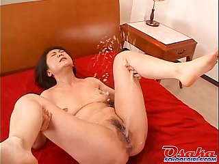 Japanese girl gets her pussy creamed more than once  from http://alljapanese.net
