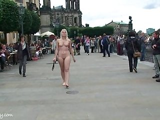 Hot blonde sandra naked on public streets