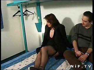 Chubby french slut anal fucked